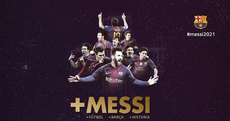 Barcelona'da Messi'nin sözleşmesi uzatıldı