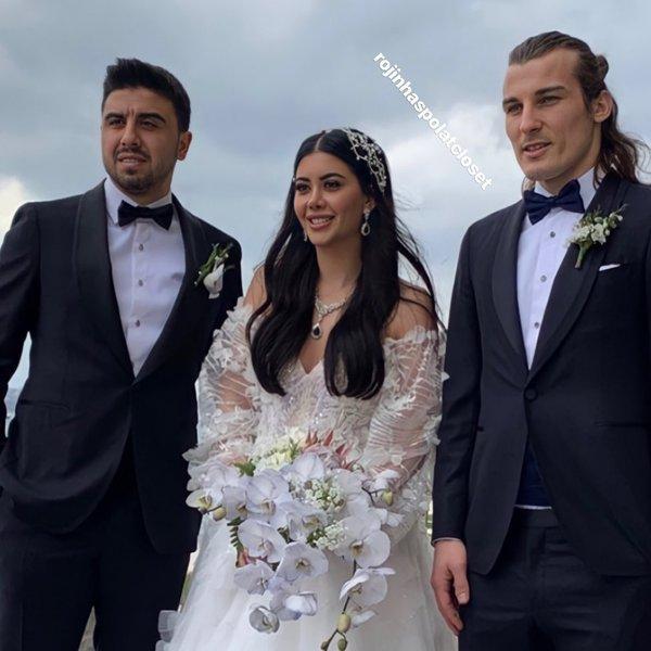 Ünlü futbolcu Ozan Tufan ve nişanlısı Rojin Haspolat bugün evleniyor!  Düğünden ilk kare geldi! - Son Dakika Magazin Haberleri