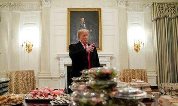Trump Beyaz Saray'a hamburger sipariş etti