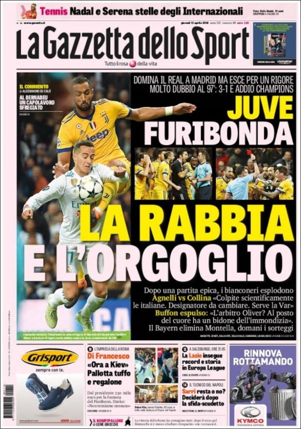 Real Madrid - Juventus manşeti: Yüzyılın soygunu!