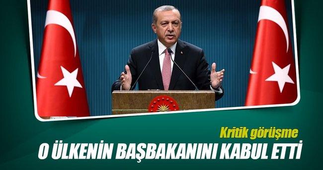 Erdoğan, Katar Başbakanını kabul etti