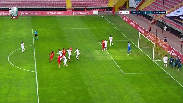 GOL | Kayserispor 1-1 Hekimoğlu Trabzon