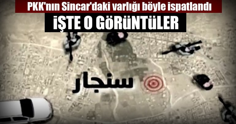 Son dakika: Terör örgütü PKK'nın Sincar'daki kampları görüntülendi!