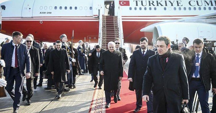 Başbakan Yıldırım Belarus'a geldi