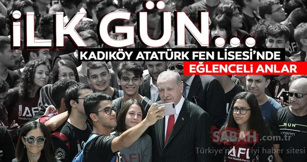 Başkan Erdoğan Kadıköy Atatürk Fen Lisesi'ndeydi. İşte Erdoğan'ın gençlerle geçen gününden anlamlı kareler