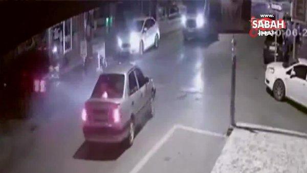 Cip ile otomobilin çarpıştığı kaza kamerada | Video