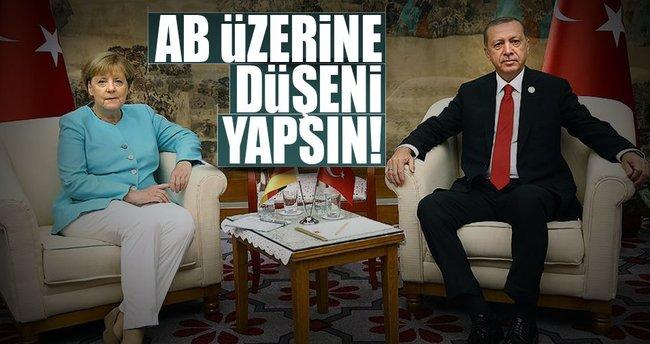 Cumhurbaşkanı Erdoğan ile Merkel görüştü!