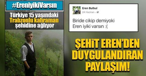 Türkiye 15 yaşındaki Trabzonlu kahraman şehidine ağlıyor