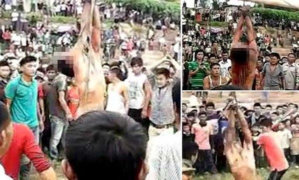 Yüzlerce kişi tecavüzcüyü döverek öldürdü!