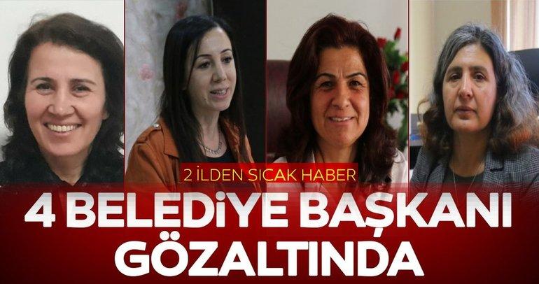Son dakika: 4 HDP'Lİ Belediye Başkanı gözaltında
