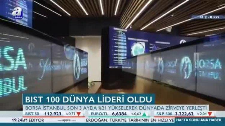 Borsa İstanbul son üç ayın dünya lideri