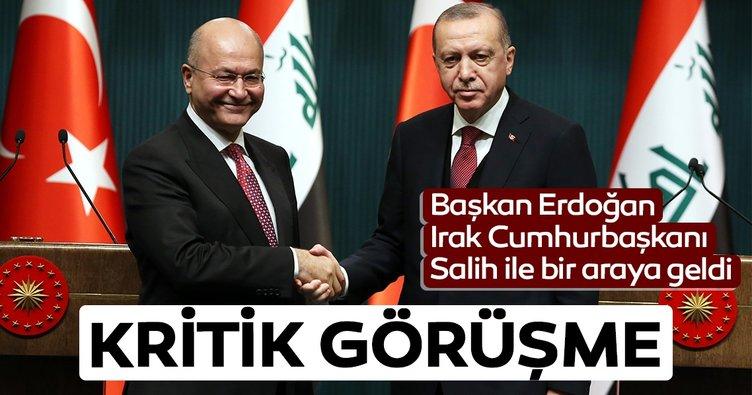 Başkan Erdoğan, Irak Cumhurbaşkanı Berham Salih ile görüştü