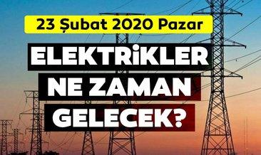 İstanbul elektrik kesintisi listesi 23 Şubat 2020 Pazar: BEDAŞ İstanbul'da elektrikler ne zaman gelecek?