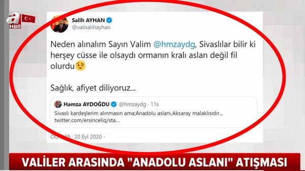 Son dakika   Sivas Valisi ile Aksaray Valisi'nin Twitter'daki gülümseten atışması sosyal medyada olay oldu   Video