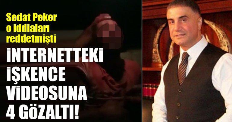 İnternetteki işkence videosuna 4 gözaltı