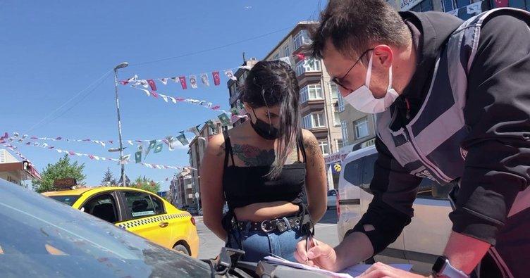 İstanbul'da tam kapanma denetimi! Genç kızın bahanesi pes dedirtti!