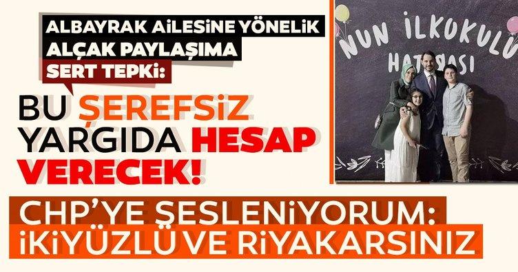 Bakan Berat Albayrak'a yönelik çirkin saldırıya tepki yağıyor: Yargı önünde hesap verecek...