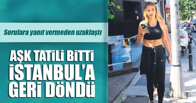 Aşk tatili bitti İstanbul'a geri döndü