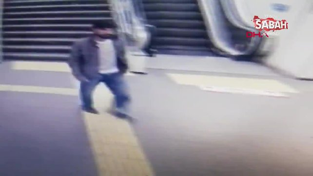 Bayrampaşa'da metro istasyonunda polise saldırı kamerada | Video