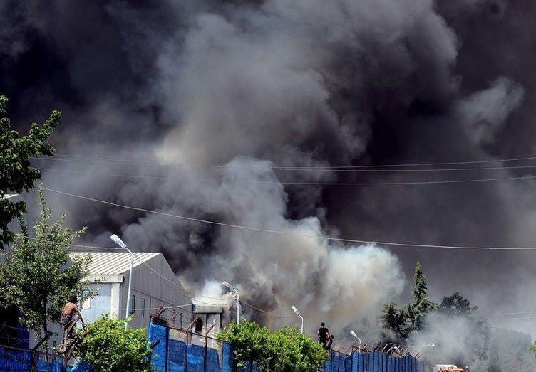 Hatay'da Suriyeli mültecilerin kampında yangın