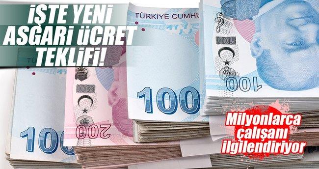 Asgari ücret bin 600 lira teklifi