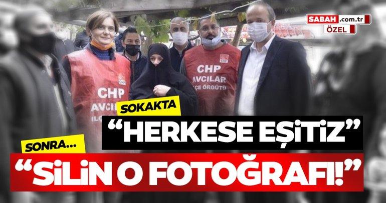 Son dakika... CHP'li Başkan çarşaflı kadınla çektirdiği fotoğrafı sildi!