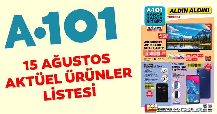 Yeni A101 aktüel ürünler kataloğu ile alışverişin tadını çıkartın! 15 Ağustos A101 aktüel ürünler listesi