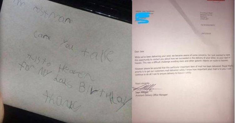 7 yaşındaki çocuk cennetteki babasına mektup göndermek istedi