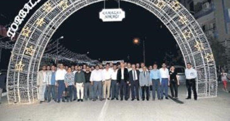 Ramazan sokağı dualarla açıldı