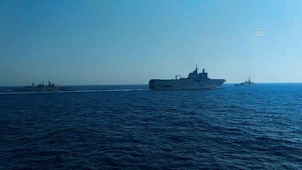 Yunanistan ve Fransa Doğu Akdeniz'de ortak askeri tatbikat düzenledi   Video