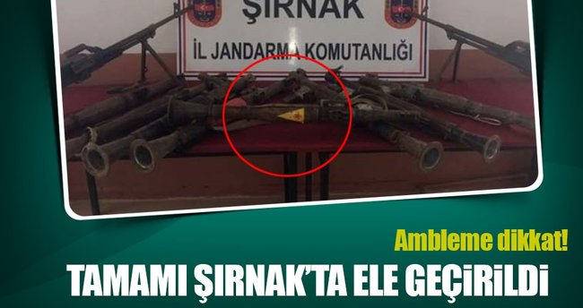 Şırnak'ta YPG amblemli roketatar ele geçirildi