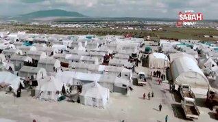 MSB sınırdaki çadırların havadan görüntüsünü paylaştı   Video
