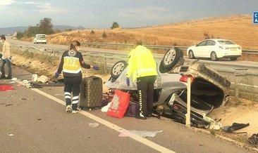 Kızını üniversite kaydına götürürken kaza yaptı: 1 ölü #corum