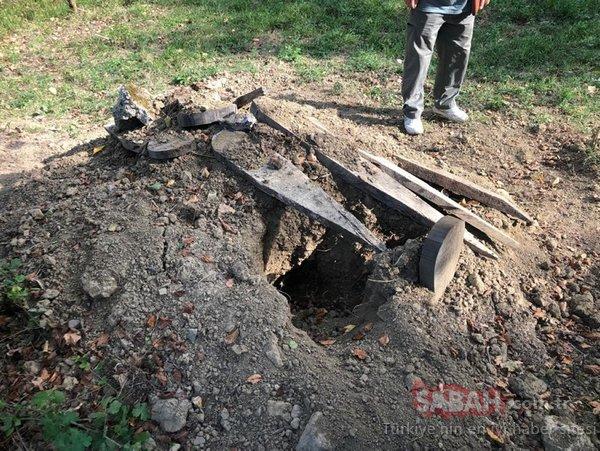 Bartın'da mezara fotokapan yerleştirildi