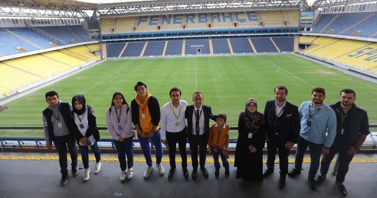 Şehit ve gazilerimizin çocukları, Fenerbahçe Stadı'nı gezdiler