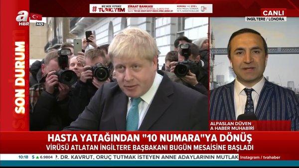 Corona virüsü tedavisi biten İngiltere Başbakanı Boris Johnson görevinin başına döndü | Video