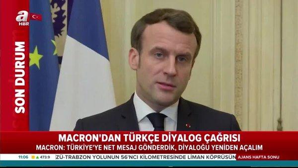 Cumhurbaşkanı Erdoğan'ın kararlı duruşu Macron'a geri adım attırdı! Türkçe diyalog çağrısı | Video