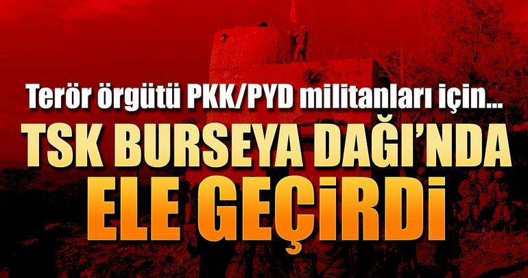 Burseya Dağı'ndan PYD/PKK'nın uyuşturucuları çıktı