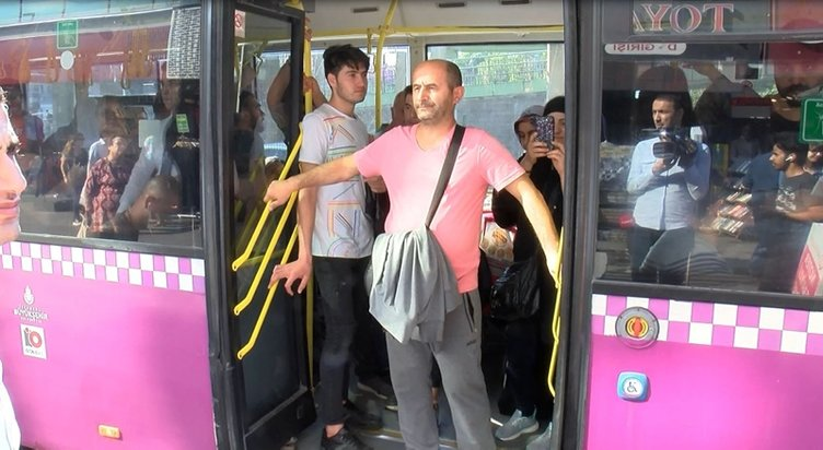 Halk otobüsünde hırsızlık alarmı... Şüpheli yakalandı
