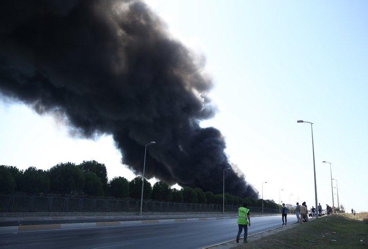 Son dakika: Tuzla'da yangın