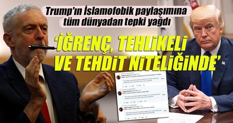 İngiltere'de Trump'ın İslamofobik paylaşımına tepkiler