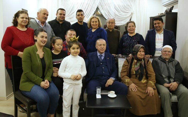 Başkan Erdoğan'dan Hatay'da ev ziyareti