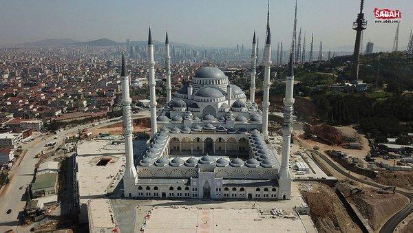 Çamlıca Camii'nin son hali görüntülendi! 58 gün sonra ibadete açılıyor
