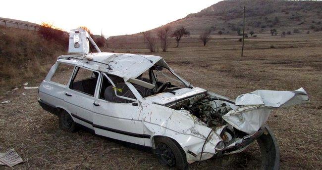 Sandıklı'da kaza: 1 ölü, 3 yaralı