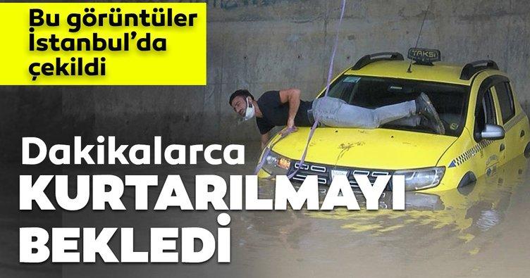 Son dakika haberi: İstanbul'da sağanak! Alt geçitte aracıyla mahsur kaldı...