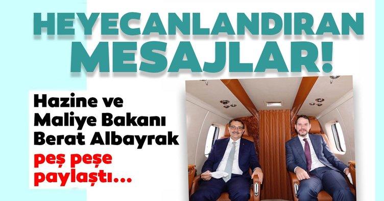 Heyecanlandıran mesajlar! Hazine ve Maliye Bakanı Berat Albayrak peş peşe paylaştı!