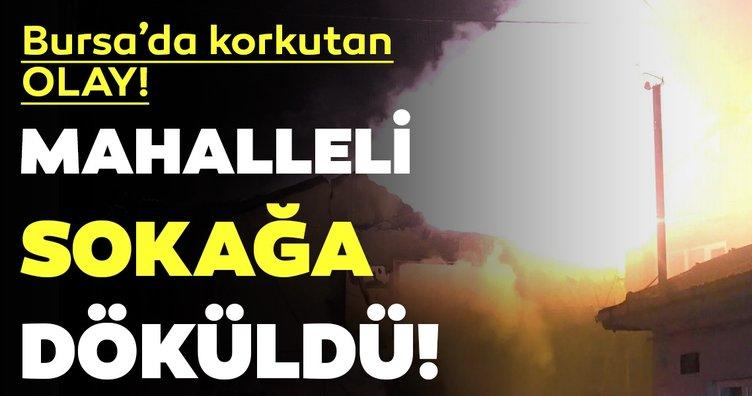 Bursa'da korkutan olay! Mahalleli sokağa döküldü...