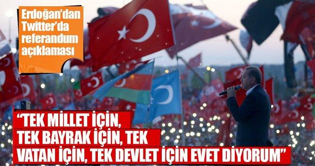 Cumhurbaşkanı Erdoğan'dan referandum açıklaması