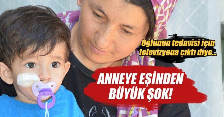 Oğlunun tedavisi için televizyona çıkınca, nikahsız eşi tarafından terk edildi