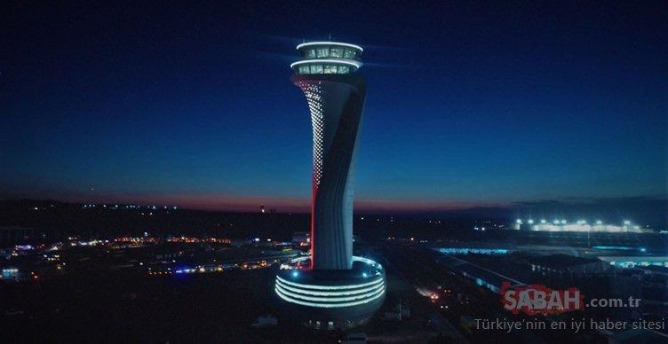 3. Havalimanı'nın kulesi ışık saçtı!